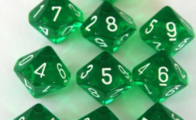 Chessex Translucent Green