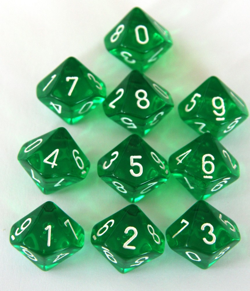 Chessex Translucent Green