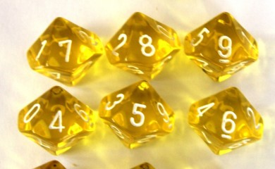 Chessex Translucent Yellow