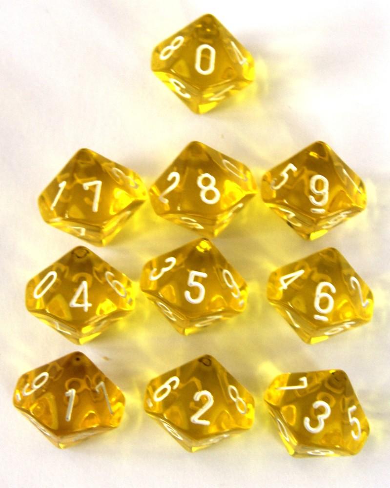 Chessex Translucent Yellow